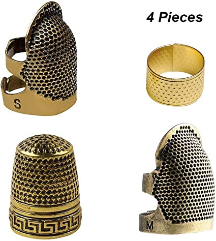 Popular Thimble Finger Set Sewing With Push-line Push Pin Accessories Durable QP