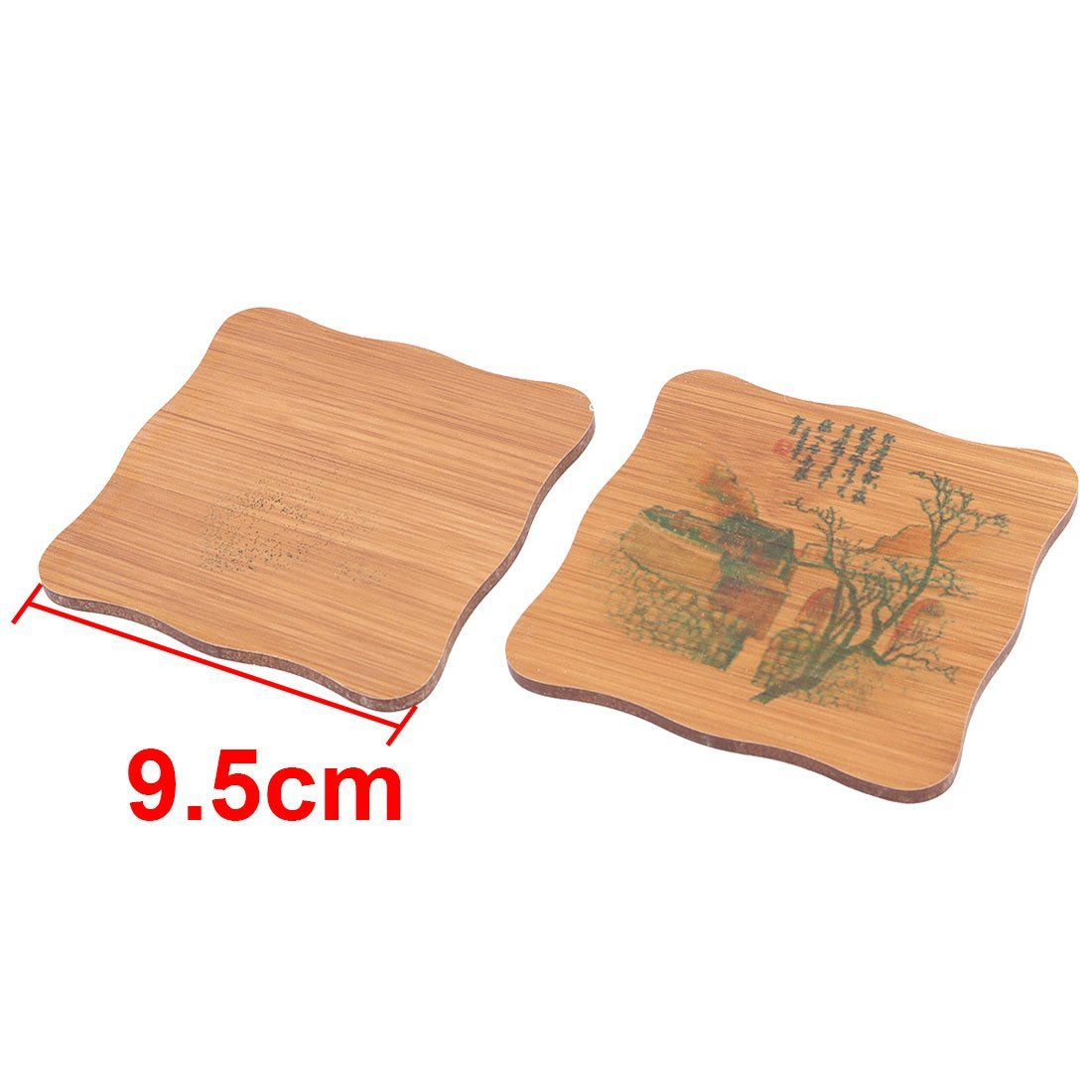 Amazon.com | Patrón de bambú eDealMax Building Home restaurante taza de té bandeja Mat Coaster Set Cuenco Brown: Coasters