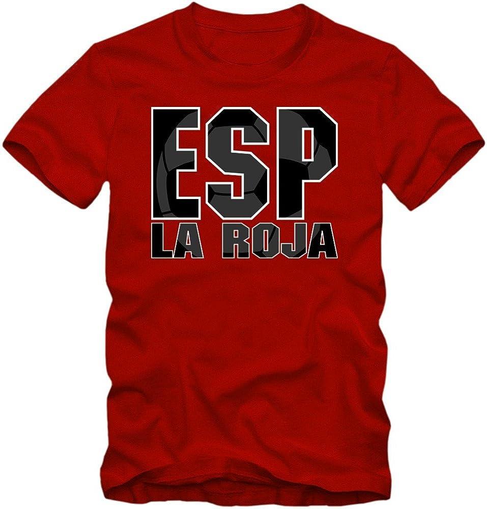 España Campeonato De Europa 2016#3 Camiseta   T-Shirt   Fútbol   Hombre   Jersey   La Furia Roja   Equipo Nacional: Amazon.es: Ropa y accesorios