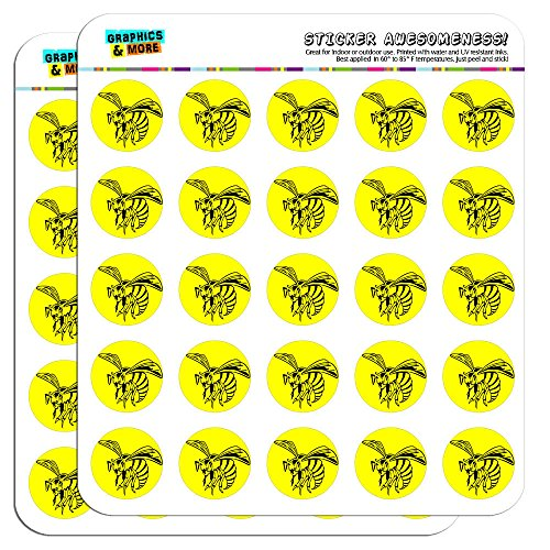 bee-wasp-hornet-1-planner-calendar-scrapbooking-crafting-stickers-opaque