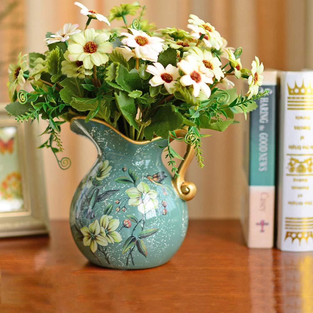 HUIYA European Pastoral Ceramic Small Vase American Style Living Room Decoration Decoration Floral Dry Flower Flower Arranger