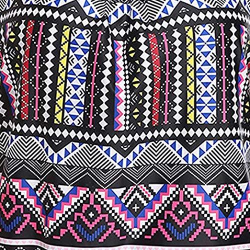Tempt Me Women Padded Tribal Printed Tankini Set Vintage Retro Tankini Top with Boyshorts Shorts Two Pieces Swimwear Swimsuit Swimming Costume
