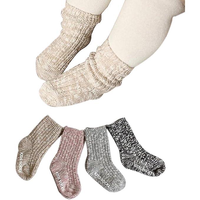 Amazon.com: Bebé niño Niña calcetines Infant bebé de algodón ...