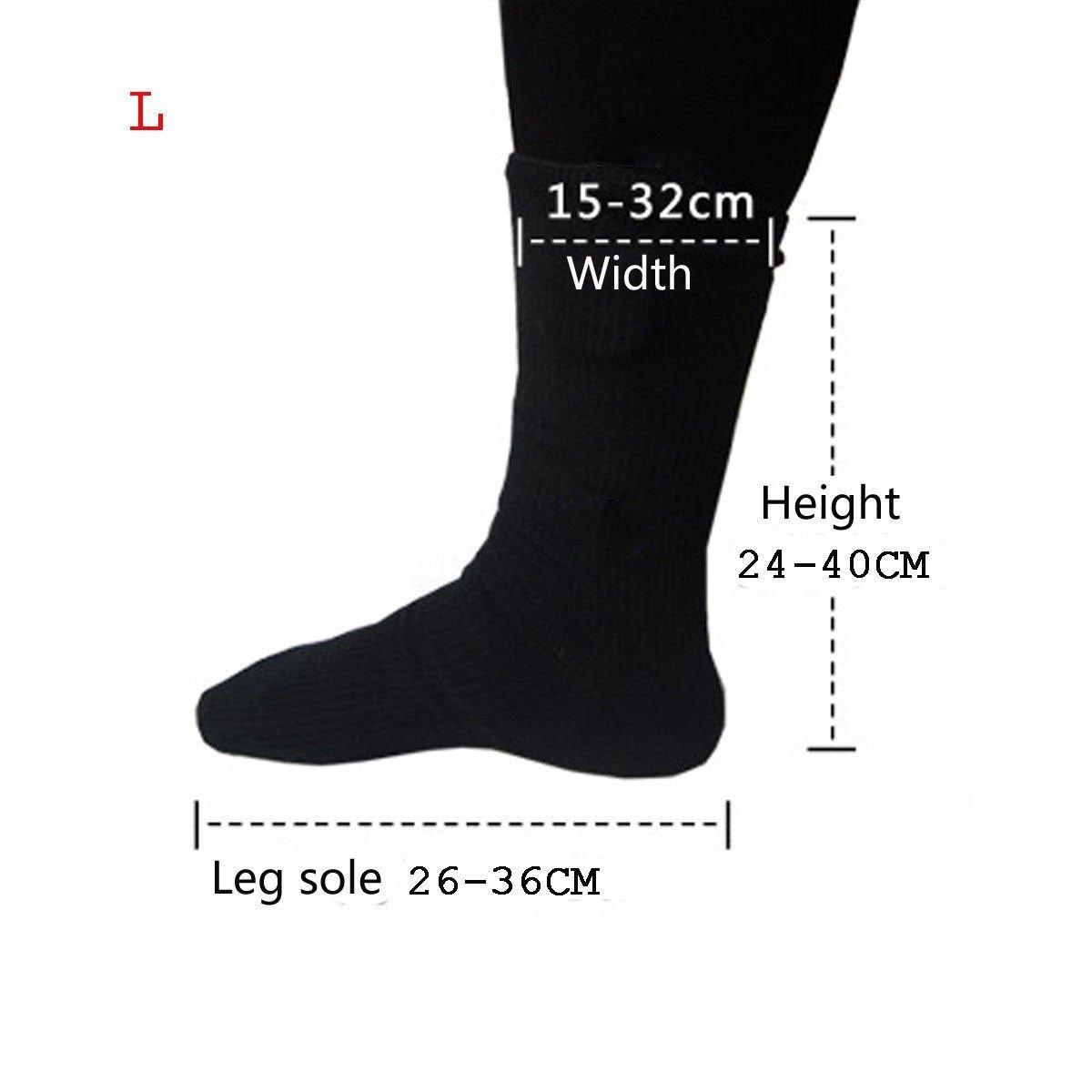 ZooArts® Calcetines de bota calefactables a pilas (1 par), negro, Large: Amazon.es: Hogar