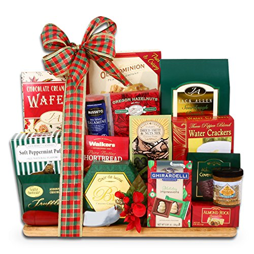 Christmas Cheese and Crackers Deluxe Gift Set - Deluxe