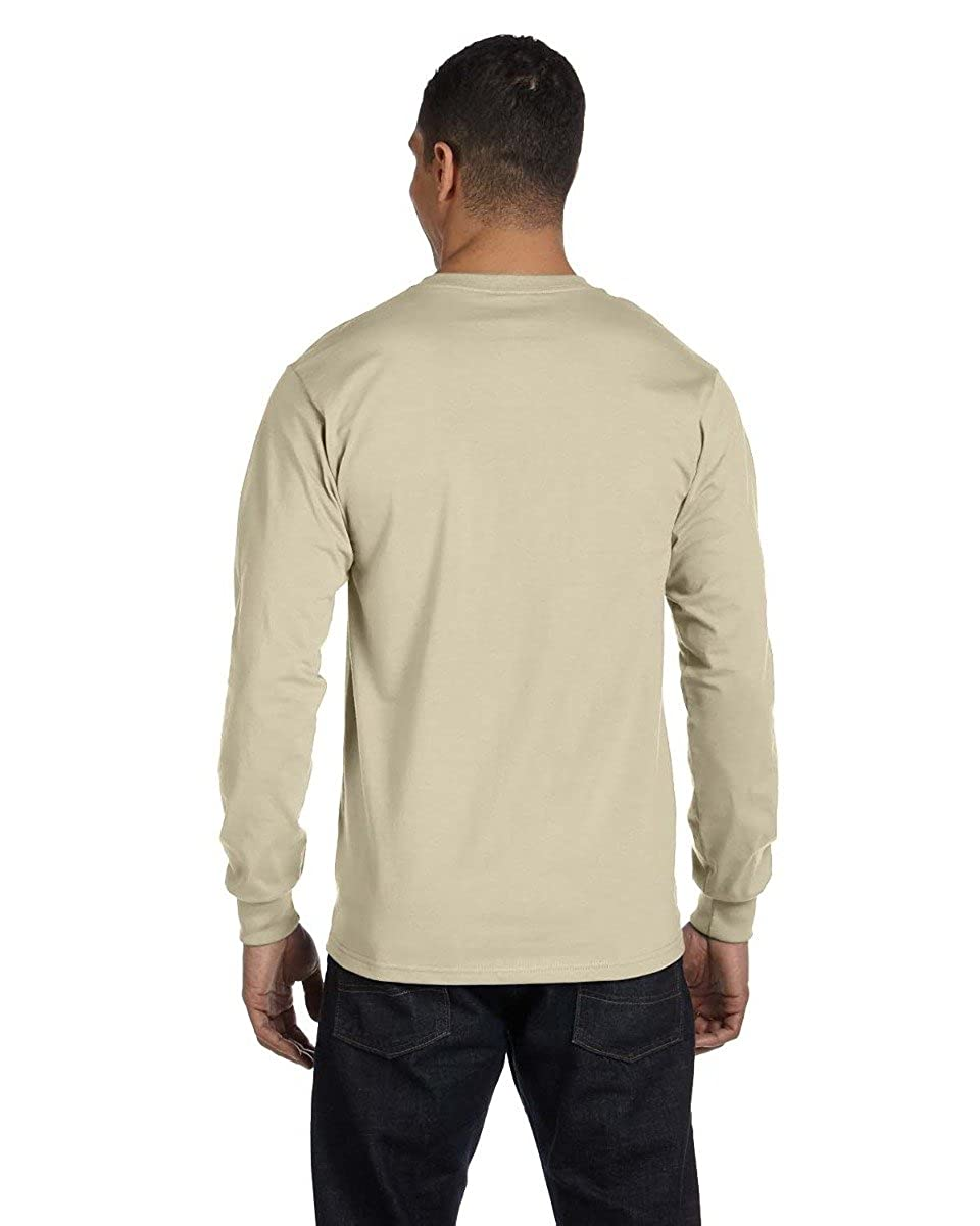 Hanes Mens 6.1 oz Long-Sleeve Beefy-T 5186