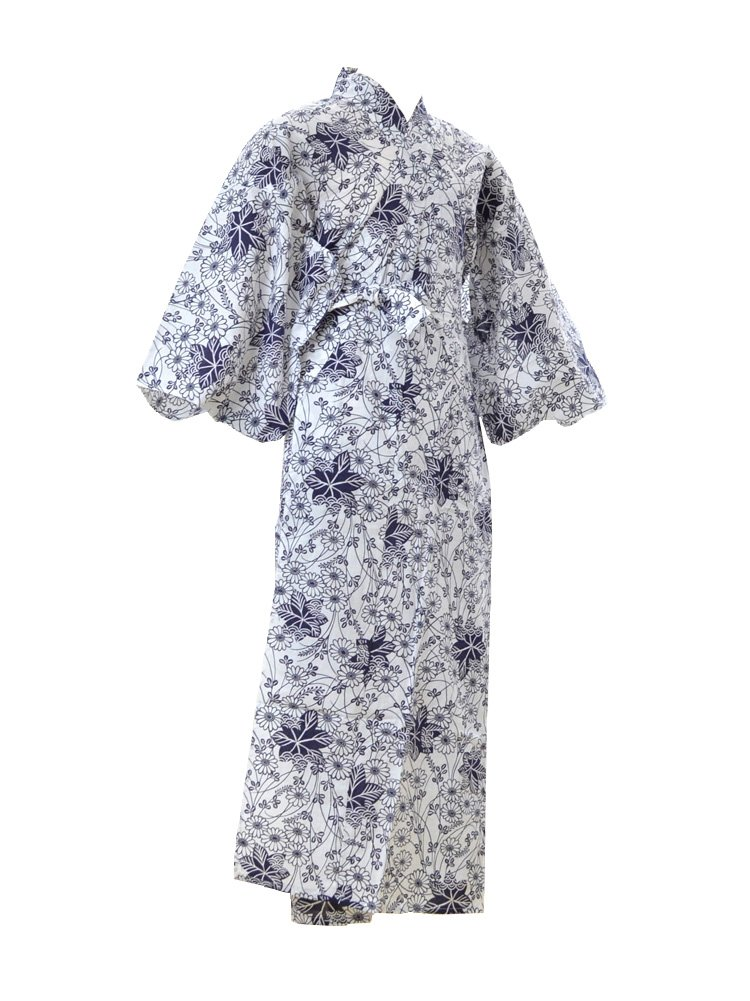 Women's Summer Japanese Yukata Night Wear with Cassic Pattern 51'' long [JPM130cm]