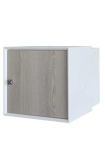 FACKELMANN Waschbeckenunterschrank IX! / Badschrank mit  Soft-Close-System/Maße (B x H x T): ca. 35 x 35 x 48 cm/Möbel fürs WC oder  Badezimmer/Korpus: ...