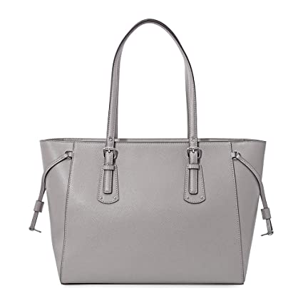 22d621b0562a Michael Kors Voyager Pearl Grey Saffiano Leather Tote Bag Grey Leather:  Amazon.co.uk: Clothing