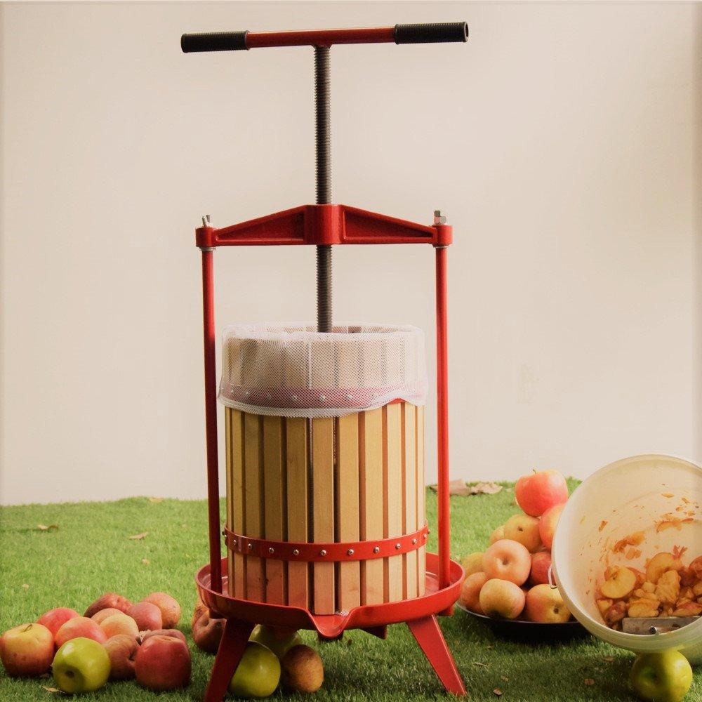 EJWOX 4.75 Gallon Fruit Wine Press, Heavy-duty Cross-beam Hardwood Cider Press by EJWOX (Image #2)
