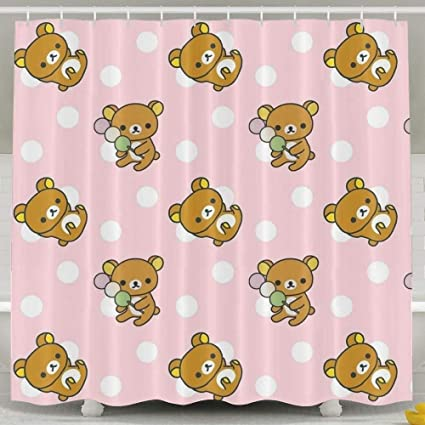 Titans Mother Rilakkuma Cute Pattern Bathroom Shower Curtain Waterproof Bath Decorations Decor Sets With