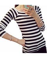 ESPRIT Damen T-Shirt Jersey Streifen Shirt, Gestreift, Gr