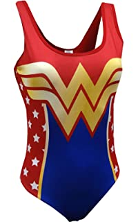 feb3959a55 Wonder Woman Backless One Piece Swimsuit at Amazon Women's Clothing ...