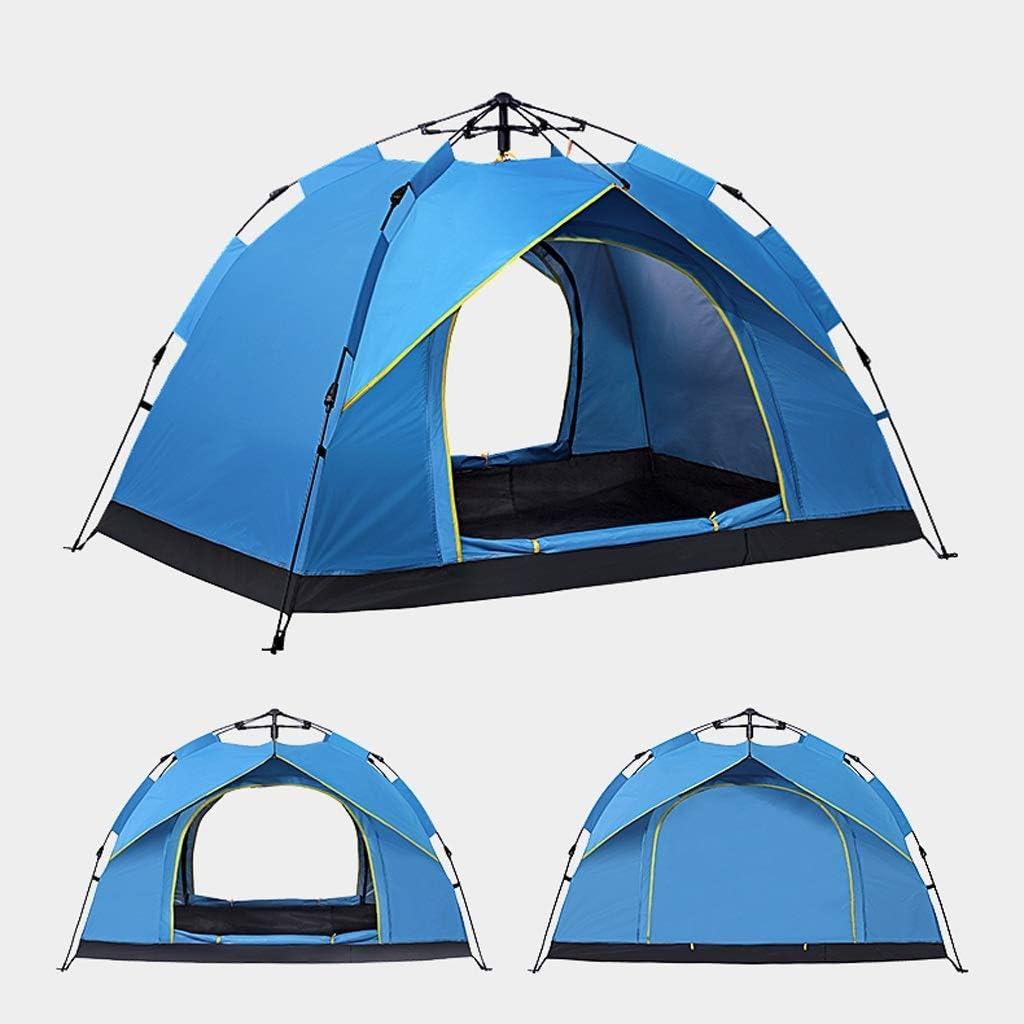 QGL-HQ 2 Man Tente Camping immédiate Automatique Pop-up léger Tente dôme extérieur Tente Plage étanche, 3 Couleurs BLUE