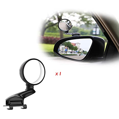 Wide Angle Adjustable Blind Spot Mirror  HD Glass 360 Degree Rotation  Convex