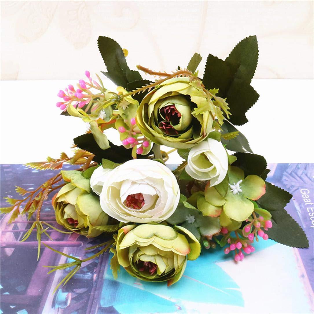 Amazon Artificial Flowers1 Bouquet Vintage Artificial Tea Plum