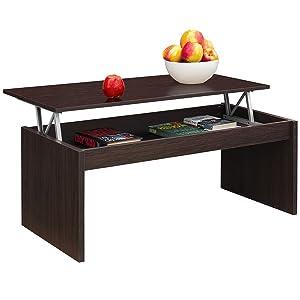 Comifort - Tavolino da caffè, da salotto / sala da pranzo, sollevabile, moderno, 1,02x 50,2x 43 cm.