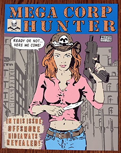"""11"""" x 14"""" Mega Corp Hunter - Limited Edition Hand Silk Screened Art Painting Like Vintage Comic Book by Artist Rob Johnston"""