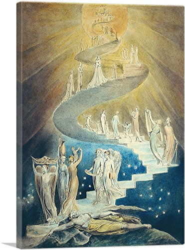 ARTCANVAS Jacob's Ladder Canvas Art Print by William Blake - 26
