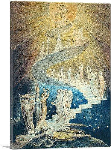 ARTCANVAS Jacob's Ladder Canvas Art Print by William Blake - 40