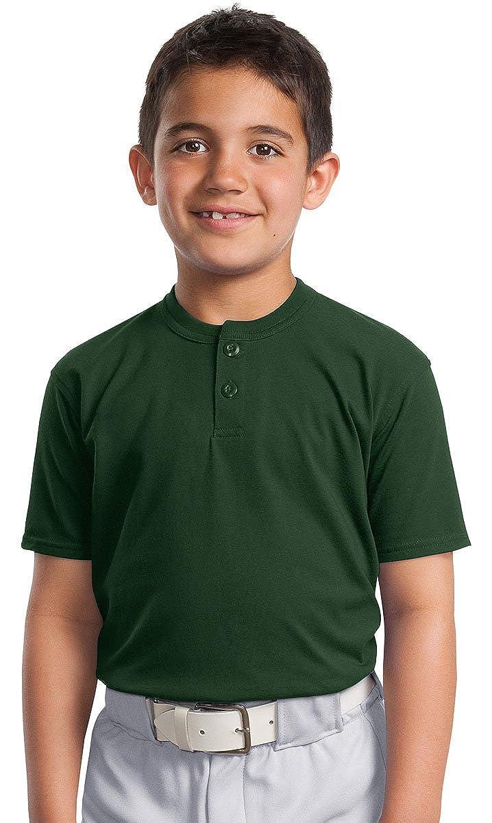 Sport-Tek Boys Short Sleeve Henley