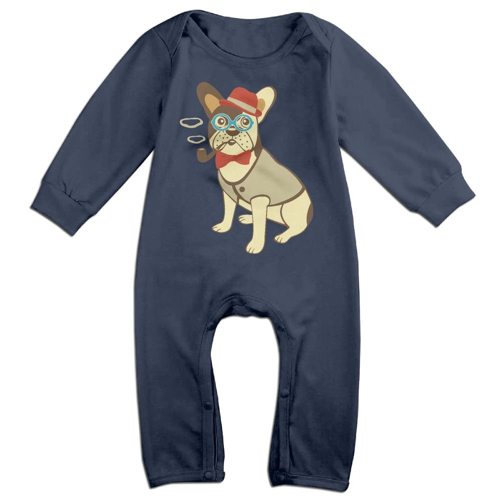 Mri-le1 Baby Girls Organic Coverall Bulldog Cute Baby Clothes