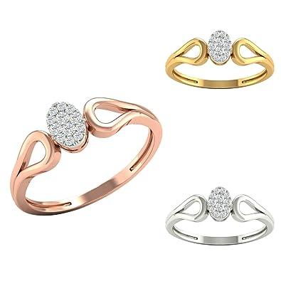 Buy Kisna Diamond Jewellery 18kt 750 Rose Yellow White Gold Royal