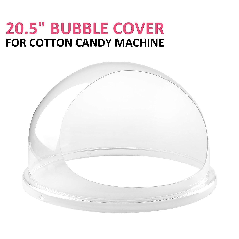 BuoQua 20.5Inch Coperchio In Poliestere Per Macchina Zucchero Filato 52cm Top Bubble Sulla Macchina Per Zucchero Filato Cupola Protettiva In PETG Per Macchina Dello Zucchero Filato