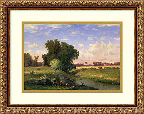 Framed Art Print 'Hackensack Meadows, Sunset, 1859' by George - Riverside Hackensack