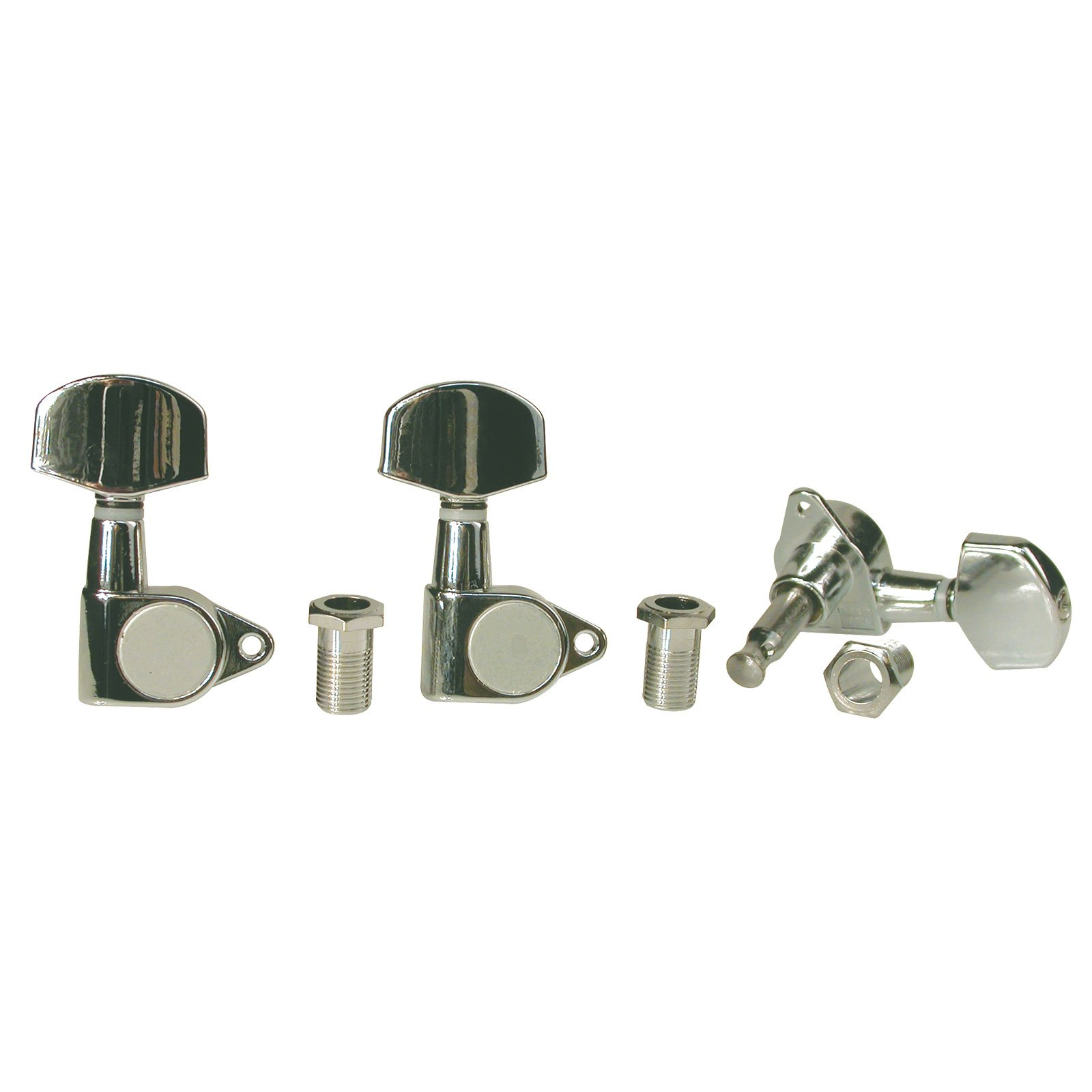 Golden Gate F-2060 Acoustic Guitar Tuners - 6 Individual (3+3) - Chrome