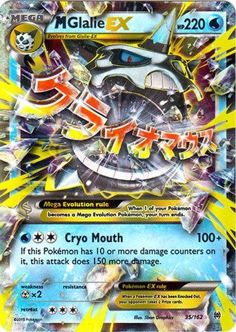 Pokemon - Mega-Glalie-EX (35/162) - XY Breakthrough - Holo