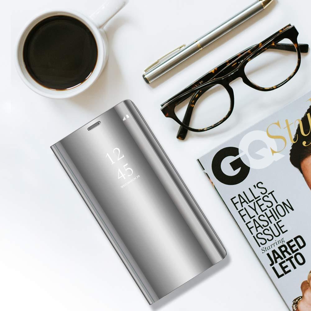 Mirror Vivo Case Vivo V11 Pro Case Metal Plating Smart Flip Protective Makeup Mirror Case
