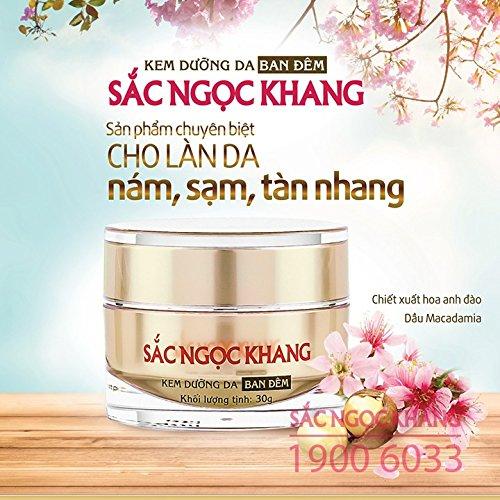 02 boxes 30g Sac Ngoc Khang cream reduce pigmentation melasma freckles - Night 61GnEV-5nrL