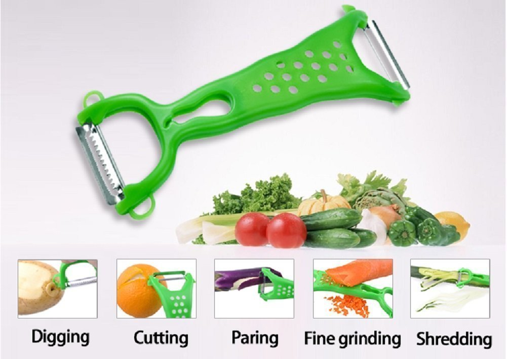 Special Kitchen Utensil Set With Stand Include:Bottle Opener,Pizza Cutter,Ice Cream Scoop,Grater,Apple Corer,Peeler,Cheese Slicer 7pcs and BONUS