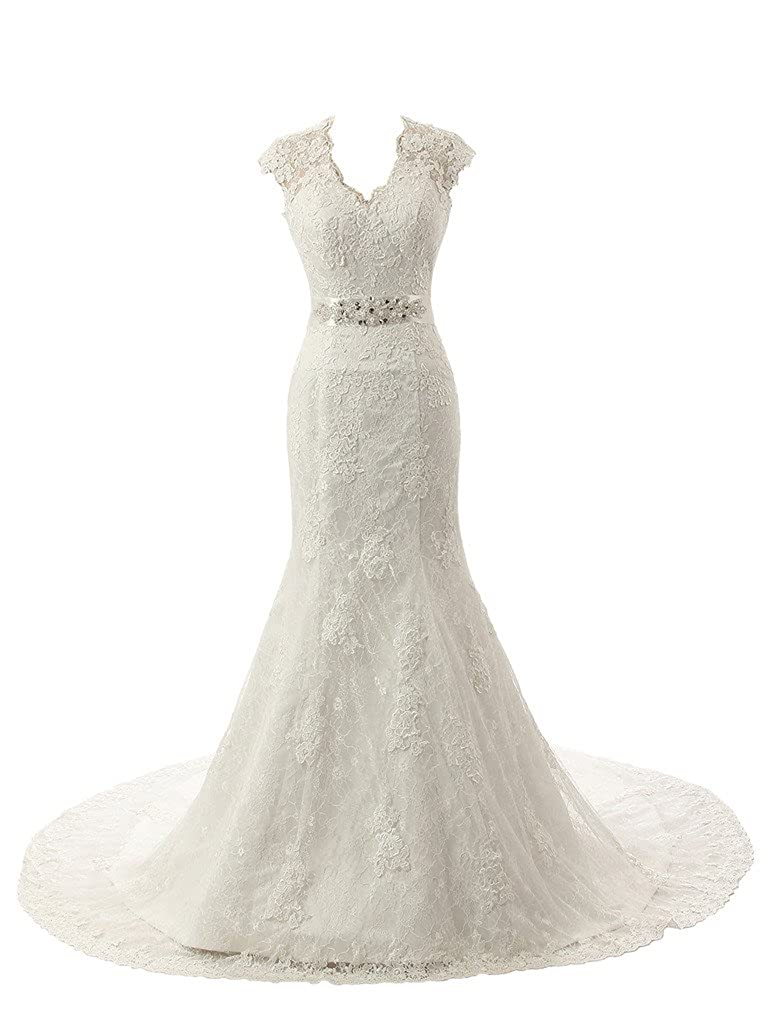 Wedding Dresses With Color.Ubridal Real Pictures Embroidery Lace Mermaid Court Wedding Dresses Bridal Gowns