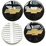 4PCS 65mm 2.56'' Auto Car Sticker Wheel Center Hub Cap Logo Aluminium fit for Chevrolet C4500 Camaro Chevy Cheyenne Colorado