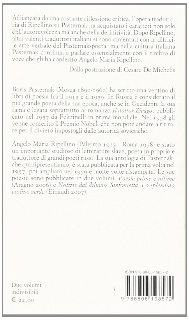 Popolare Amazon.it: Poesie - Boris Pasternak, A. M. Ripellino - Libri MN48