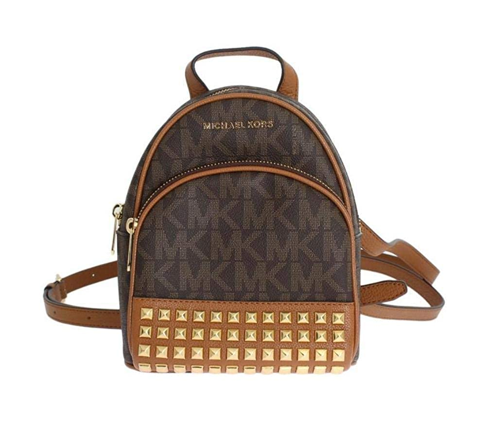 7861b9e6a28b Amazon.com  Michael Michael Kors Abbey Extra-Small Signature Studded  Backpack Brown Acorn  Shoes