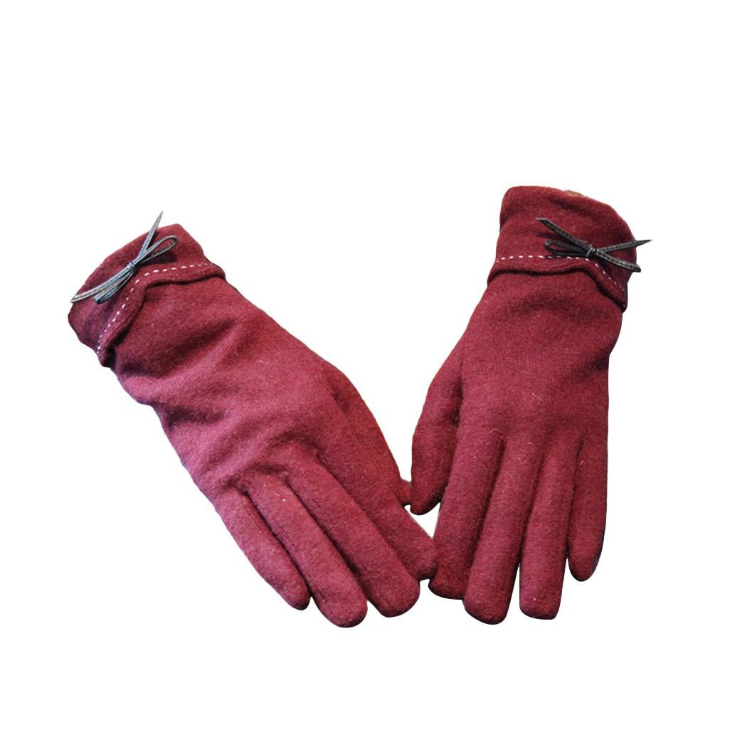 MIOIM Women Elegant Touch Screen Gloves Winter Warm Mitten Touchscreen Gloves SAICAD*281108202