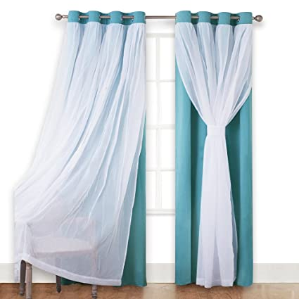 PONY DANCE Sheer Blackout Curtains
