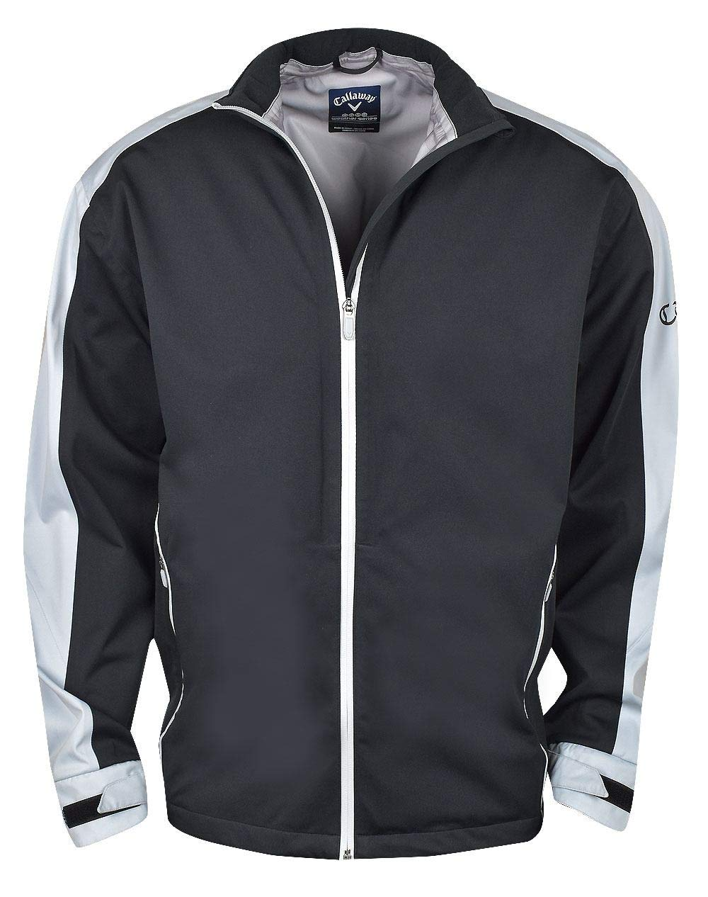 Callaway Men's Waterproof Full-zip Golf Jacket, Caviar, Large by Callaway