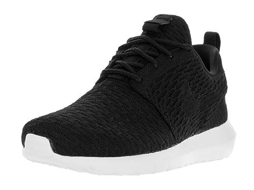 ac431cbdb6b3 Nike Men s Roshe Nm Flyknit Sneakers Black Size  10.5 UK  Amazon.co ...