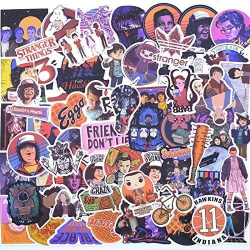 100 Pcs Stranger Things Stickers Pack . para Los Niños Niños En El Teléfono Portátil Skateboard Equipaje Película Stanger Pegatina: Amazon.es: Juguetes y juegos