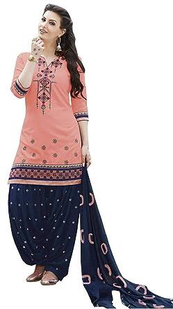 59653d0447 Dream Angel Fashion DreamAngel Women's Cotton Patiala Salwar Suit (Extra  Small)