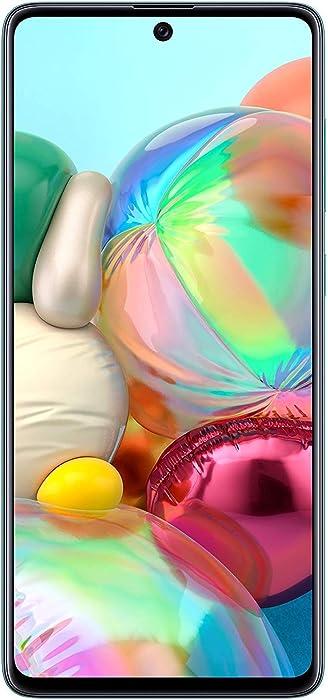 Samsung Galaxy A71 (SM-A715F/DS) Dual SIM 4G LTE 128GB, GSM Factory Unlocked - International Version - No Warranty - Blue