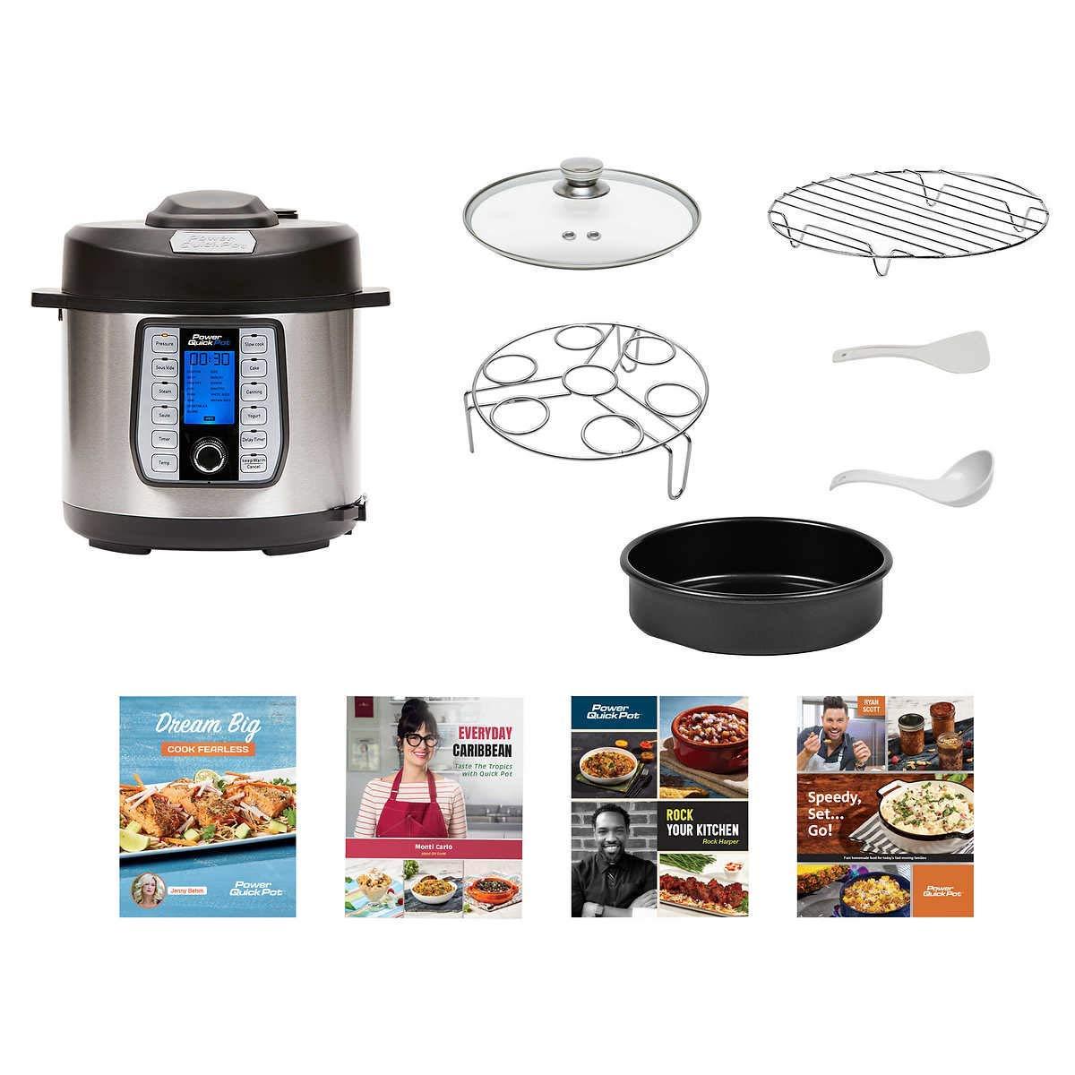 Power Quick Pot (6 QUART) 37 in1 Multi- Use Programmable Pressure Cooker, Slow Cooker, Rice Cooker, Yogurt Maker, Cake Maker, Egg Cooker, Baking, ...