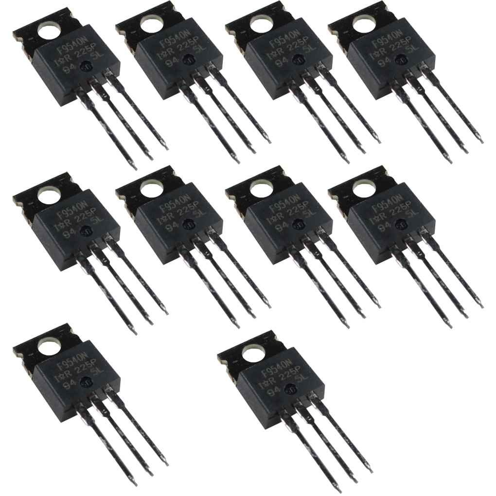 Elenxs 10pcs IRF9540 P Channel Power MOSFET 23A 100V TO-220 IR AmzElenxs9557