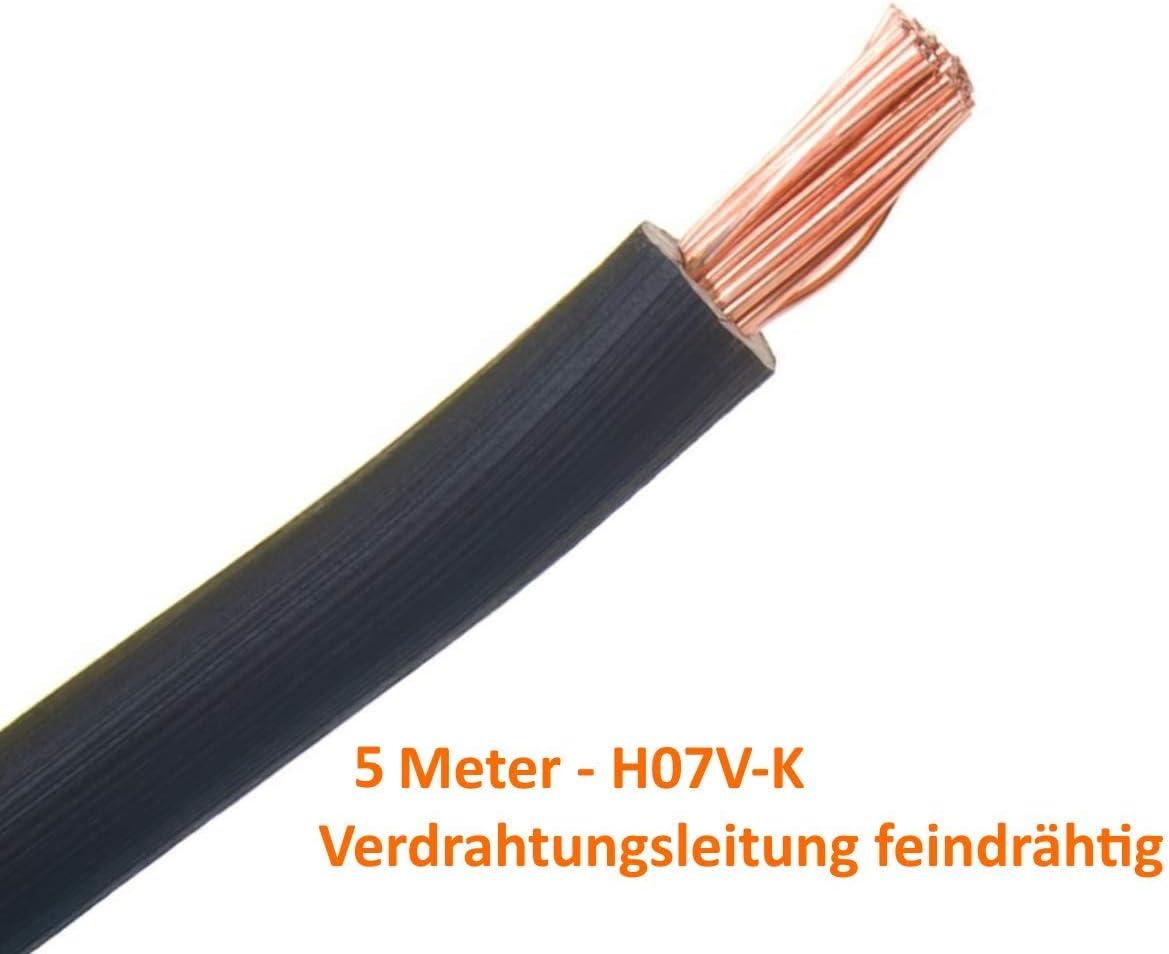 Verdrahtungsleitung H07 V K 10 Mm Schwarz 5 M Flexibles Kabel Einzelader Aderleitung Baumarkt