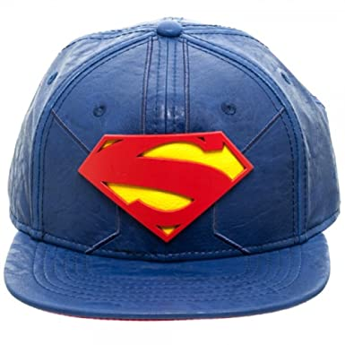bf0597c1f56 DC Comics Superman Suit Up PU Faux Leather Snapback at Amazon Men s ...