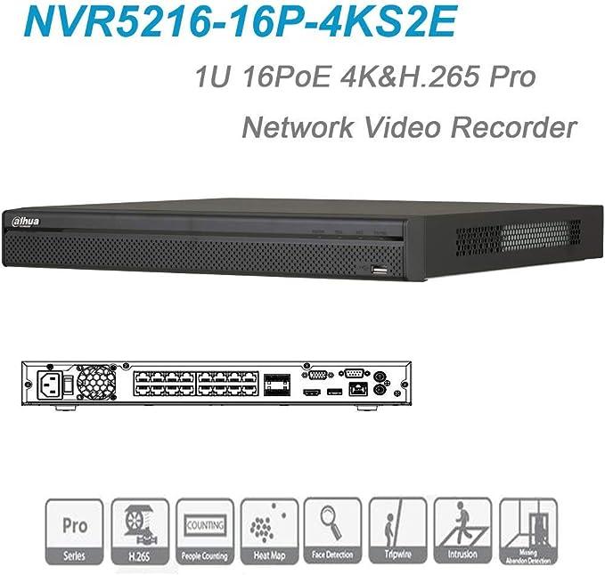 Dahua NVR5216-4KS2 4K NVR 16CH 1U 2 SATA 2 USB Ports HDMI Network Video Recorder